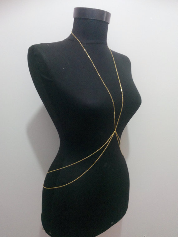Discount sale, gold body chain, silver body chain, silver chain, gold chain, body necklace, gift, dainty necklace