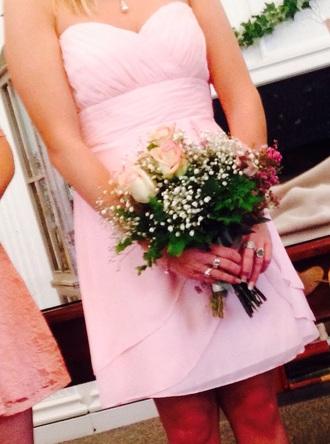 dress strapless strapless dress pink dress