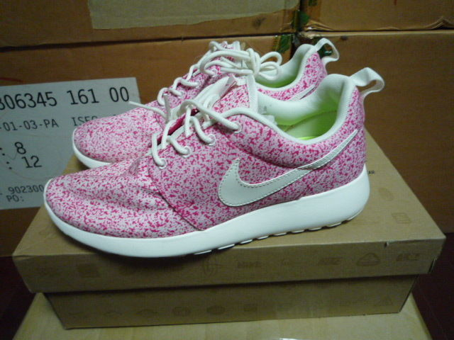 Nike Wmns Roshe Run Rosherun Splatter Pink Sail NSW Troquise 511882 101 | eBay