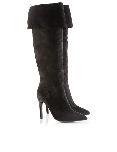 Black Suede Deanne Knee High Boots