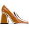 Marni - colour block pumps - women - calf leather - 37.5, brown, calf leather