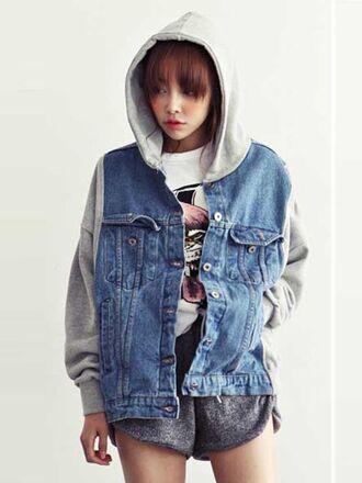 style jacket hoodie trends light blue denim autumn fashion