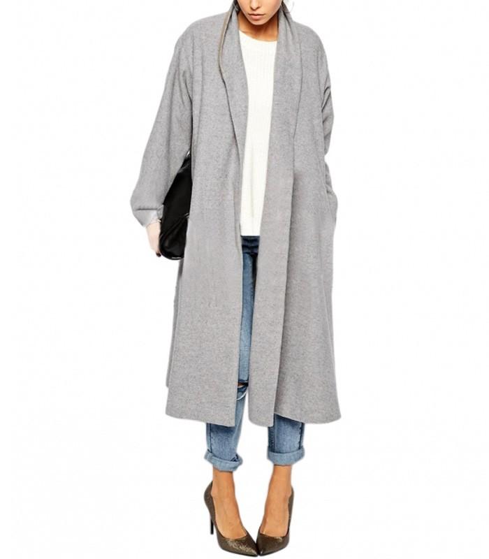 Straight Line Long Coat Large