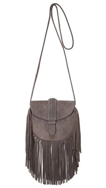 Grace Atelier De Lux Gamine Saddle Bag - Cezanne Gray