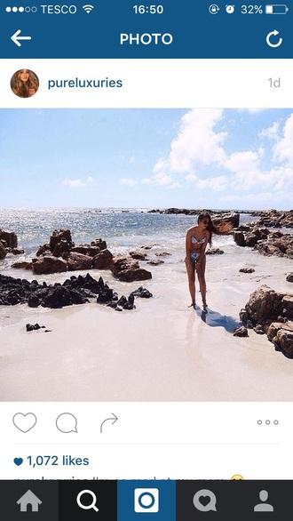 swimwear bikini summer hot hot pants sunglasses holiday party dress in blue summer holidays tan