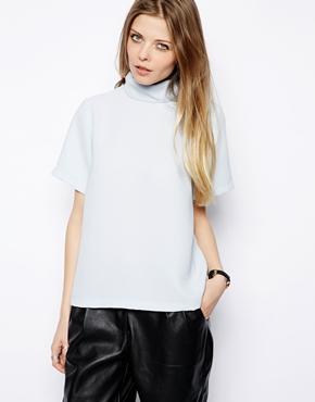 ASOS | ASOS Top with Clean High Neck at ASOS