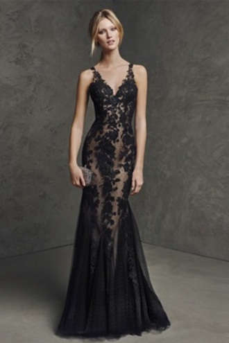 dress black dress sexy dress maxi dress fancy dress prom dress prom gown prom evening dress gown lace dress vline mermaid prom dress elegant dress fabulous black mermaid model