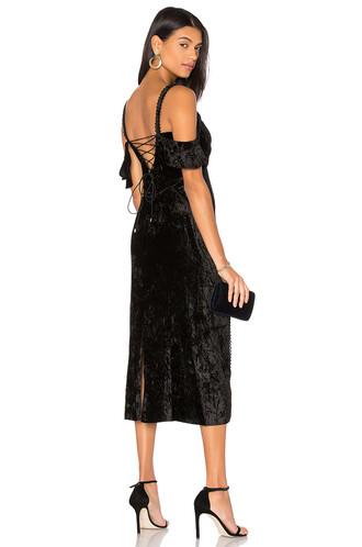 gown velvet black dress