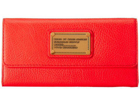 Marc by Marc Jacobs Classic Q Long Trifold Infra Red - Zappos.com Free Shipping BOTH Ways