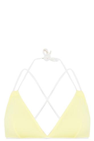 bikini bikini top yellow swimwear