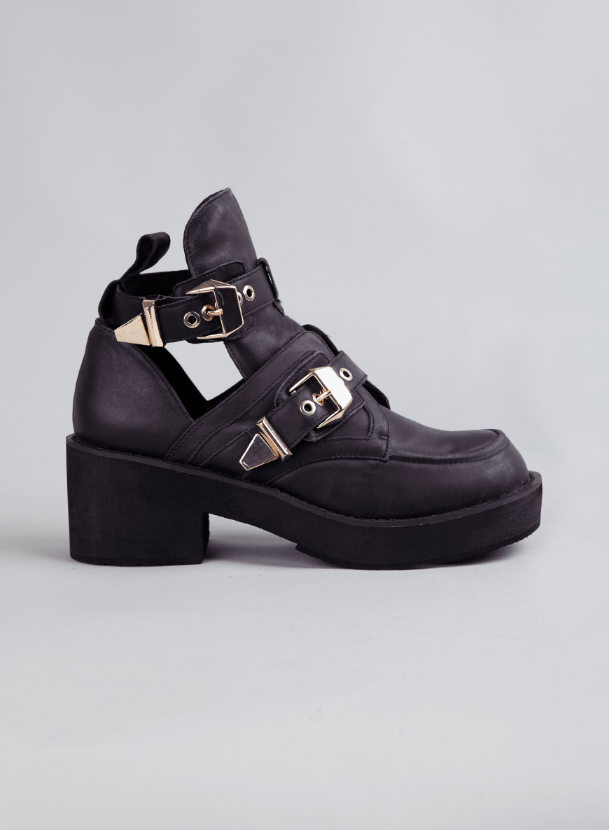Jeffrey Campbell Gold Buckle Coltrane