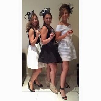 dress white dress off the shoulder dress off the shoulder stripes white stripes australia melbourne fashion melbourne