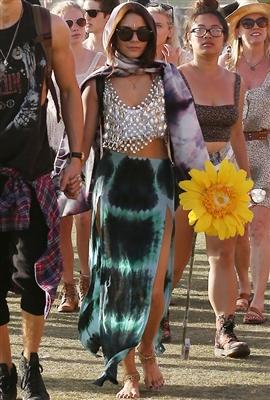 Blu Moon Two Slit Skirt in Aqua Tie Dye