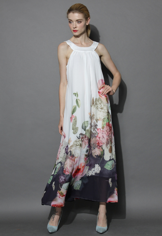 dress bouquet of love shift maxi dress chicwish shift dress maxi dress floral dress summer dress holiday dress chicwish.com