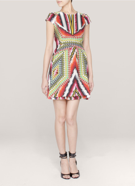 Peter pilotto che v printed dress in red (multi)