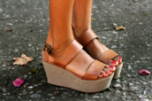 shoes,brown leather flatforms,brown,tan,leather,flatforms,wedges,heels,steve madden,black,platform shoes,brown platform,platform sandals,platform heels,tan shoes,wedge heels,leather wedges,brown wedges,summer,summer shoes,cute,trendy,cute platforms,fashion,boho