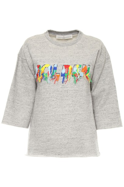 Golden goose sweatshirt embroidered grey sweater