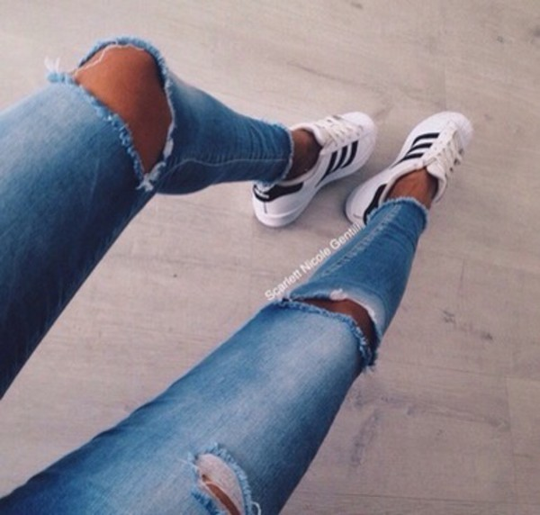 High Waist Sexy Knee Ripped Fashion Wholesale Jeans For Women ...