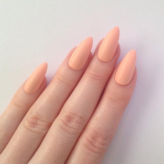 Pastel peach stiletto nails nail designs nail art nails matte pastel peach stiletto nails nail designs nail art nails stiletto nails acrylic nails pointy nails fake prinsesfo Gallery
