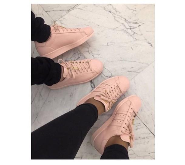 peach adidas shoes