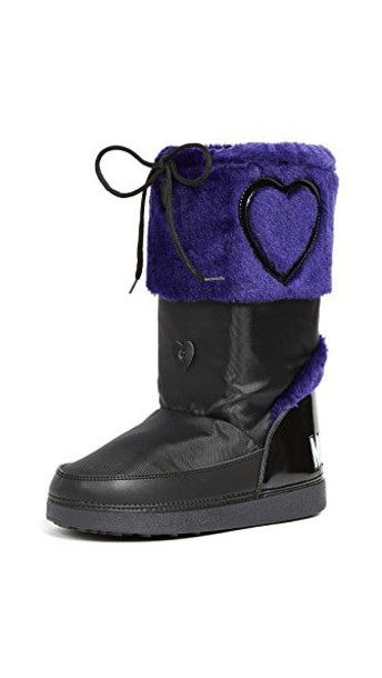 Moschino love ankle boots navy shoes