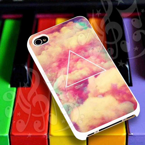 Triangle cloud case for iphone 4/4s iphone 5/5s/5c by malumau