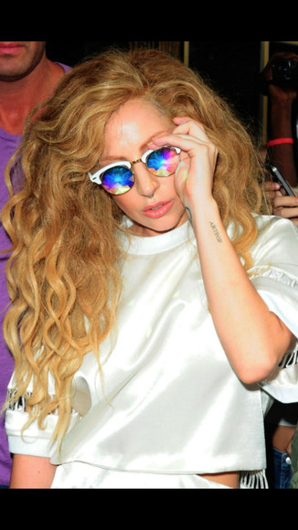lady gaga sunglasses retro colorful