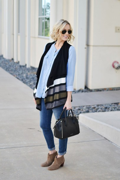 straight a style blogger top jacket jeans bag shoes