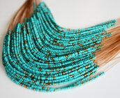 jewels,jewelry,beaded,beaded necklace,necklace,multi row,turqouise,turquoise