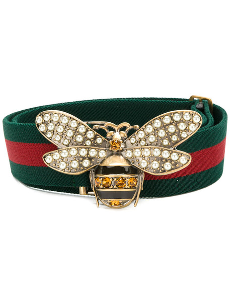 2d086ccb6099 gucci Gucci - Web belt with bee - women - Cotton - 85