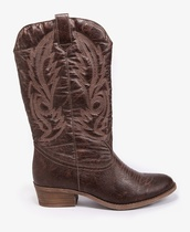 shoes,brown,cowboy boots