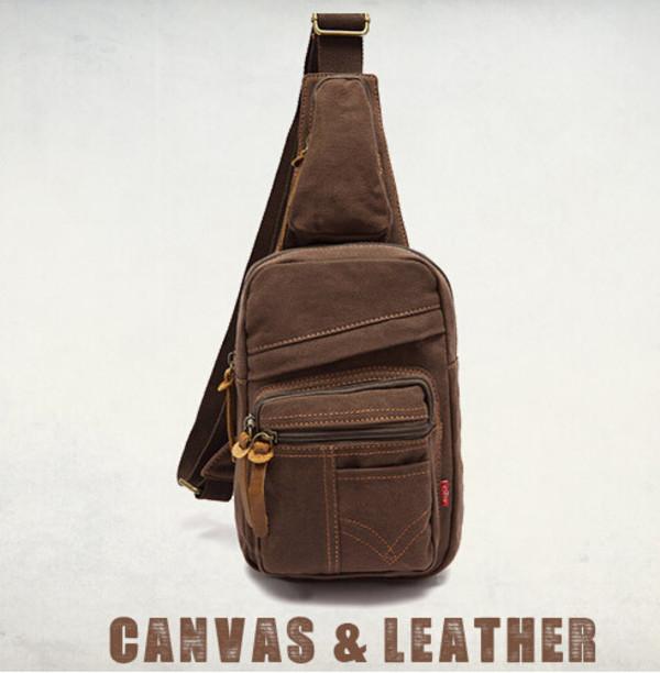 bag genuine leather outdoor bag small bag hiking chest bag