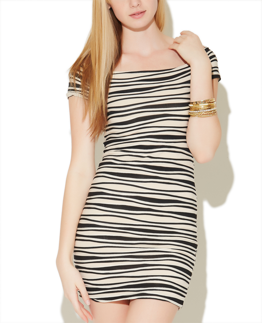 Striped Marilyn Bodycon Dress | Wet Seal