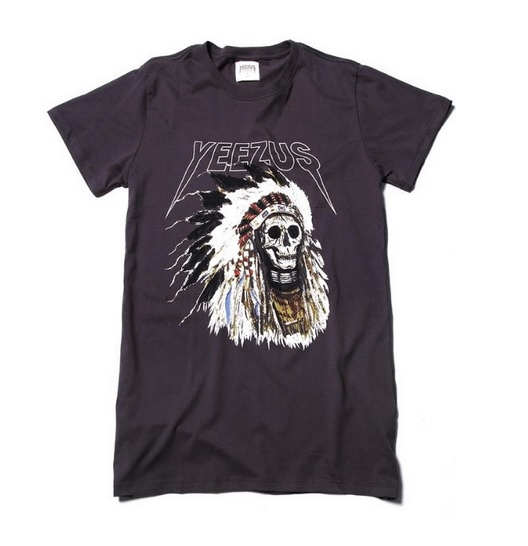 The yeezu$ indian warrior & skull roses t