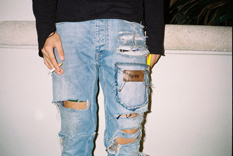 jeans ripped jeans grunge 90s style cigarette