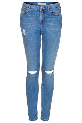 MOTO Ripped Stone Wash Jamie jeans - Topshop