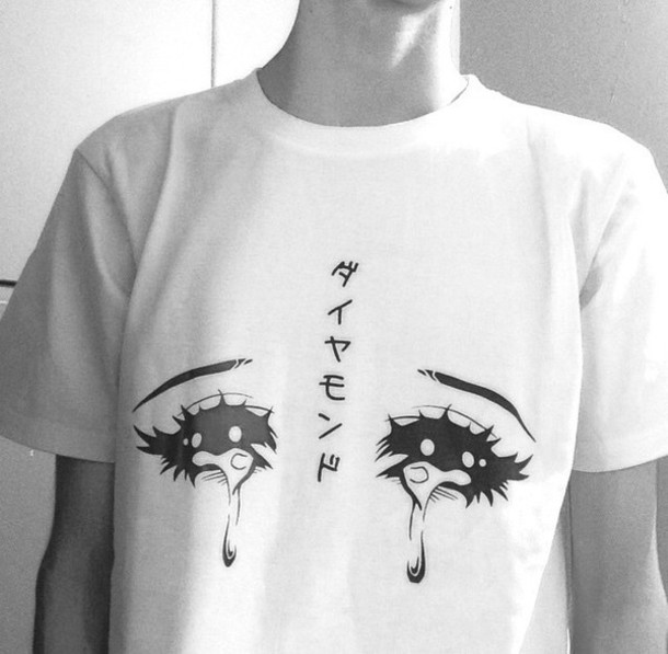 shirt manga love white grunge