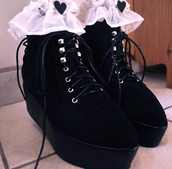 shoes,creepers,cute,laces,black,grunge,hipster,platform shoes