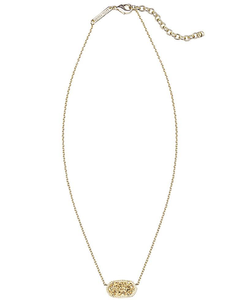 Elisa Pendant Necklace in Gold Drusy - Kendra Scott Jewelry