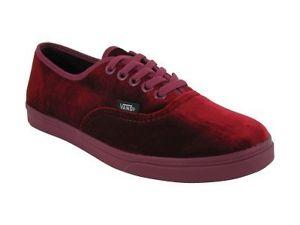 New Vans Red Velvet Authentic Lo Pro Womens Sz 9 Casual Shoe ... 32c56d828