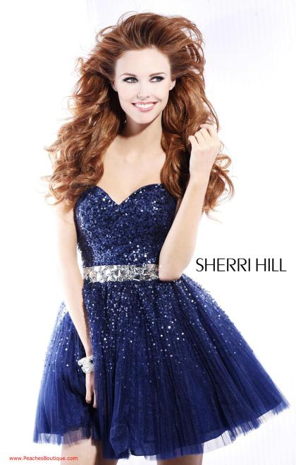 Sherri Hill Short Dress 2787 at Peaches Boutique