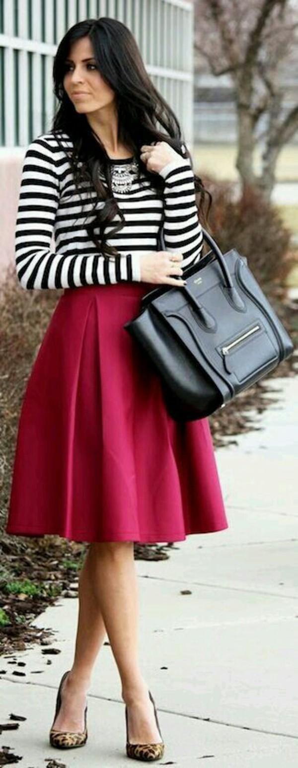 Full A Line Midi Skirt
