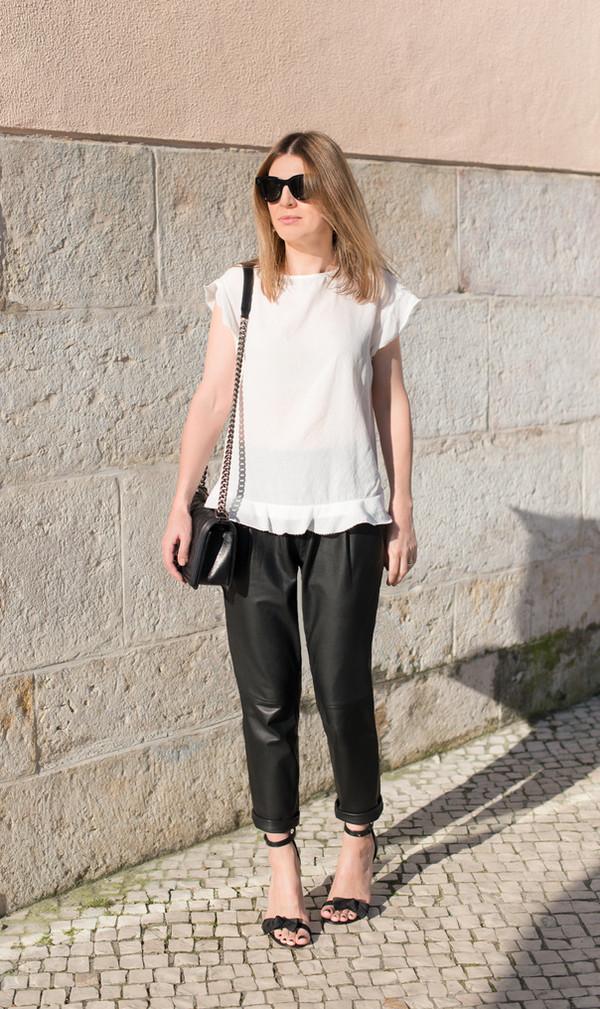 the working girl t-shirt shoes pants bag