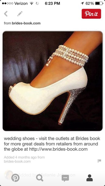 shoes wedding heels pearls