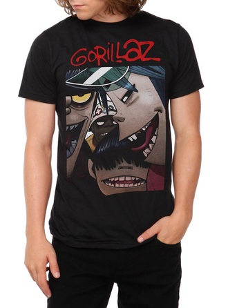 shirt band merch music the gorillaz gorillaz