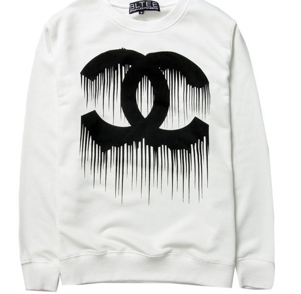 Chanelesque dripping letters sweater (3 colors available) – glamzelle