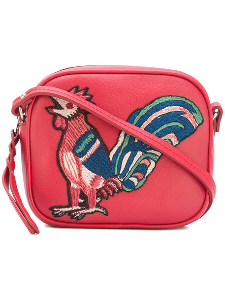Alexander Mcqueen embroidered women bag crossbody bag leather red