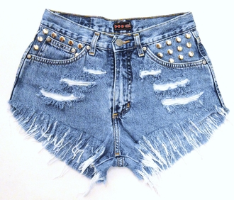 shorts jeans leci levi high waisted shorts underwear high heels runwaydreamz studded dress ripped shorts