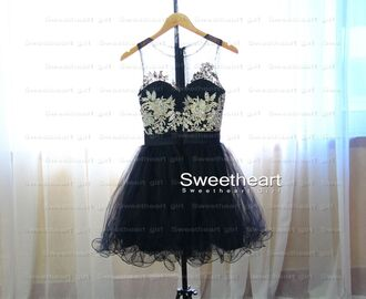 dress prom dress prom short prom dress sparkle black black dress diamonds bejeweled dress embellished dress pretty illusion neckline illusion dress