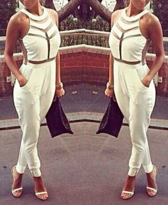 Splicing Halter Jumpsuit